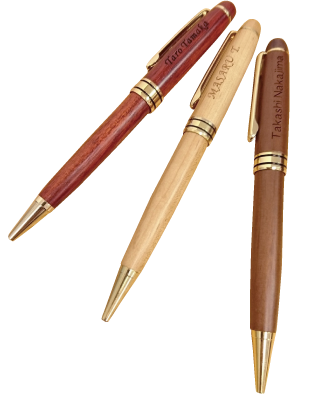 ウッドボールペン